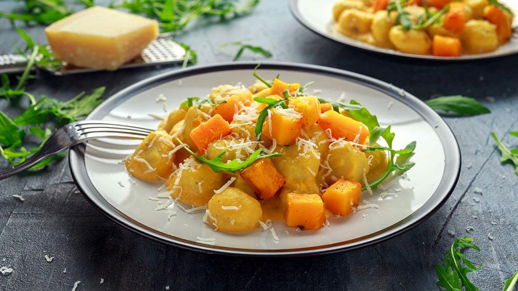 Fastenhaus Dunst, Kürbisgnocchi vegetarisch, besser essen