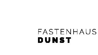 Fastenhaus Dunst - Logo mit weißer Sonne