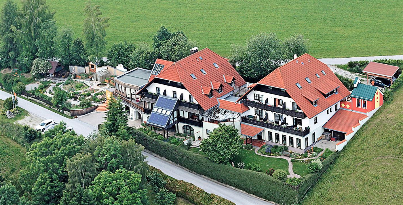 Fastenhaus Dunst - Haus Drohnenaufnahme